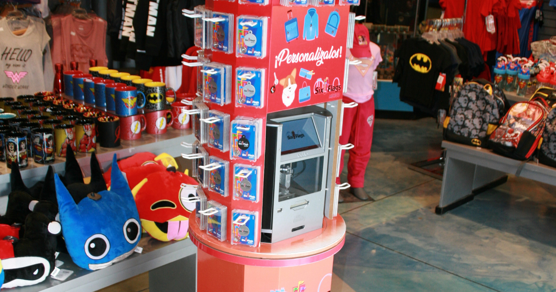 POS personalization kiosk in a gift store