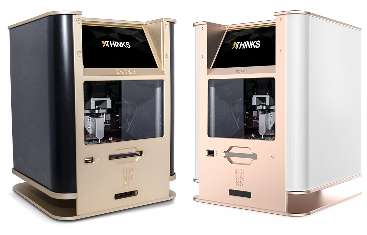 Techla Luxury personalization solution, engraving machine gold & black and Gold and white color